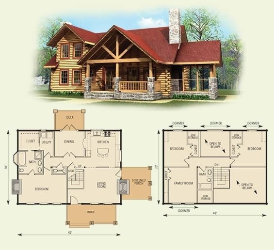 Best New 4 Bedroom Log Home Floor Plans New Home Plans Design With Pictures