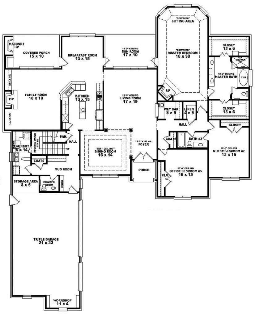 Best Luxury 5 Bedroom 3 Bath House Plans New Home Plans Design With Pictures