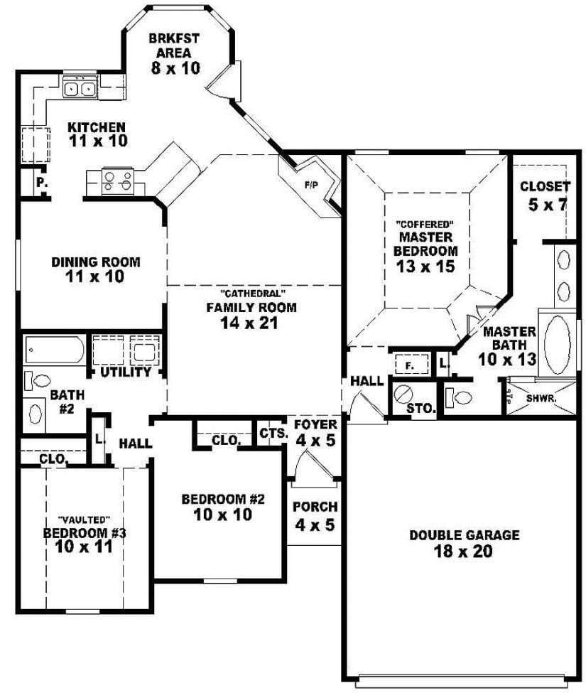 Best Luxury One Story House Plans With 3 Bedrooms New Home With Pictures