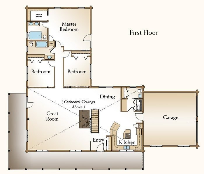 Best New 3 Bedroom Log Cabin Floor Plans New Home Plans Design With Pictures