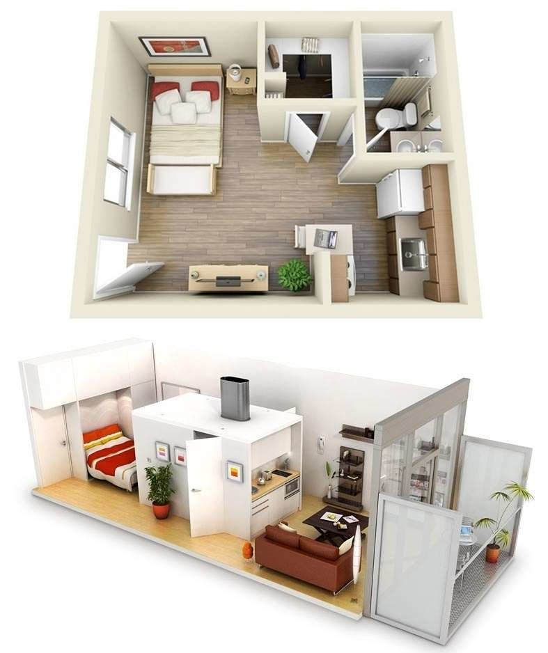Best 10 Ideas For One Bedroom Apartment Floor Plans With Pictures