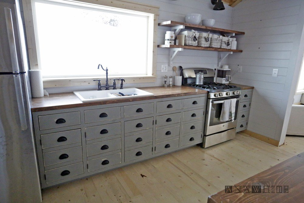 Best Ana White Diy Apothecary Style Kitchen Cabinets Diy With Pictures