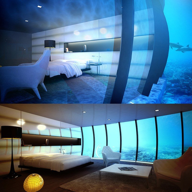 Best The Manta Resort Opens The First Submerged Hotel Room In With Pictures