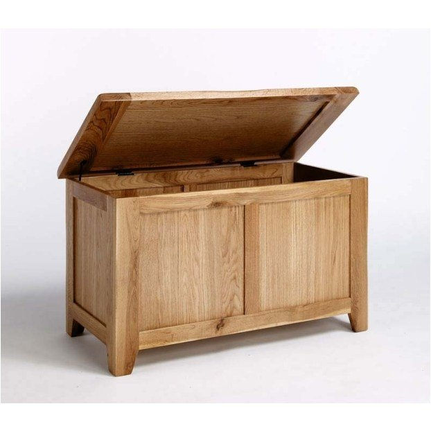 Best Quebec Solid Oak Bedroom Furniture Blanket Storage Box Toy With Pictures