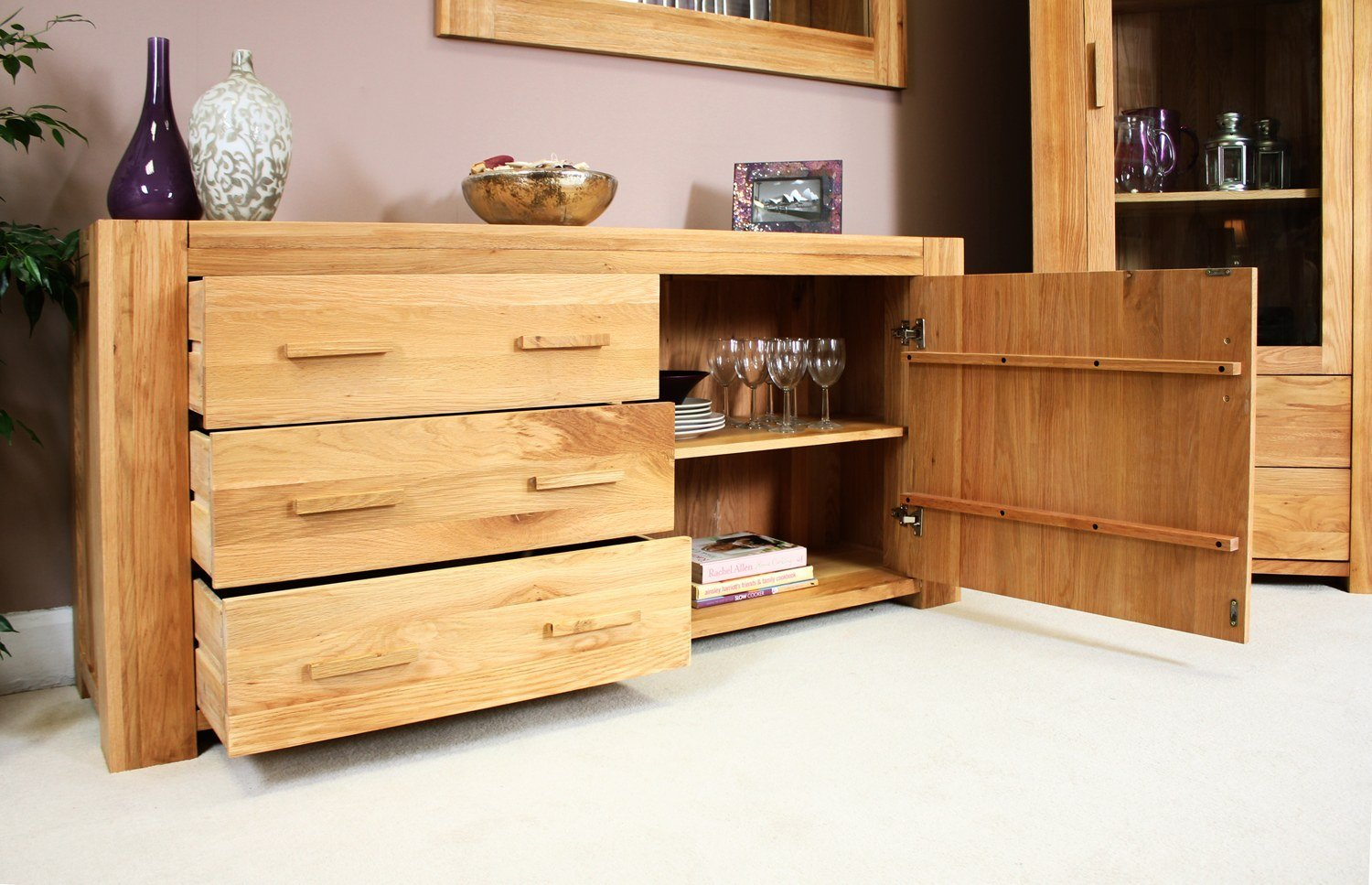 Best Palma Solid Chunky Oak Furniture Living Dining Room Storage Sideboard With Pictures