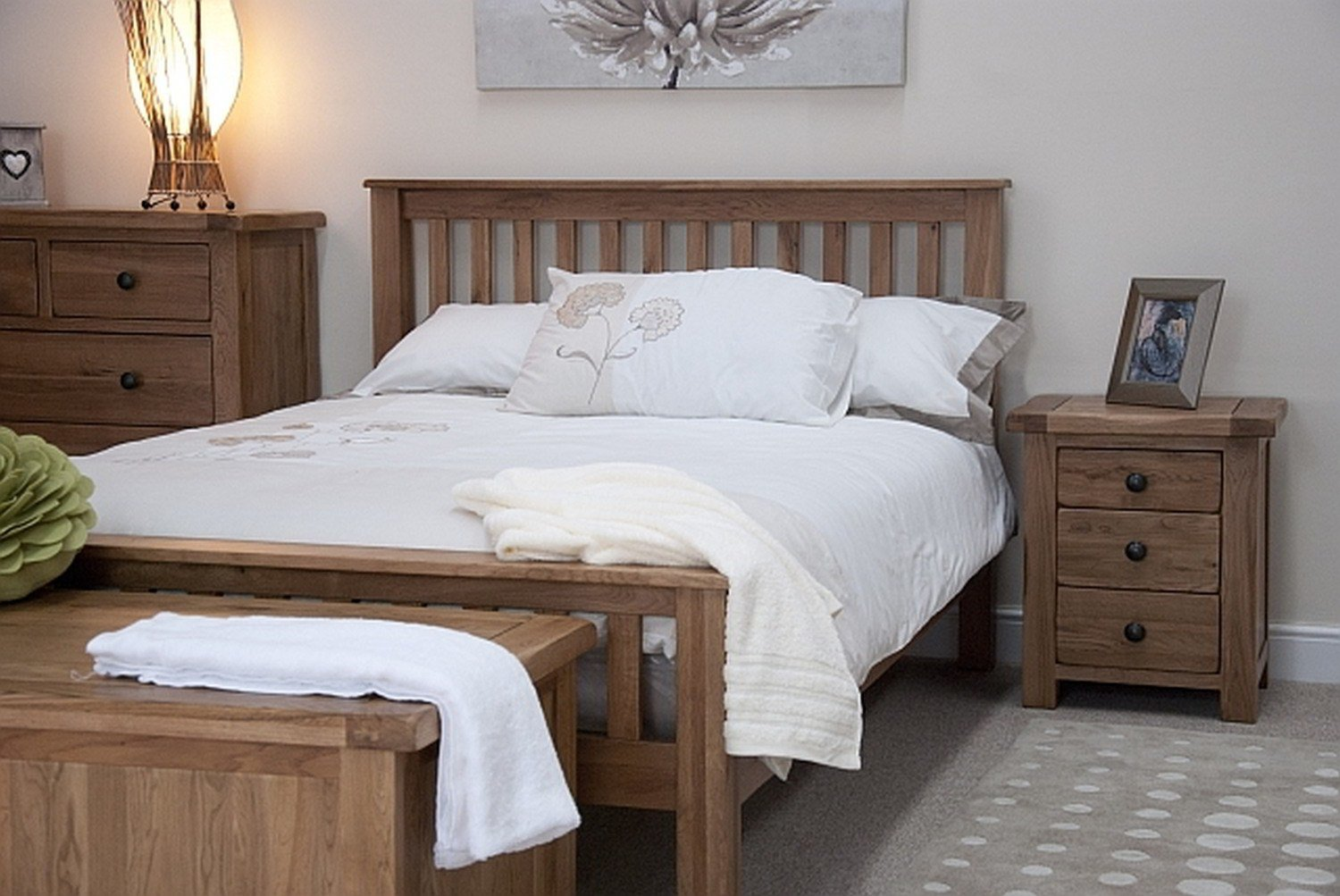 Best Tilson Solid Rustic Oak Bedroom Furniture 5 King Size Bed With Pictures