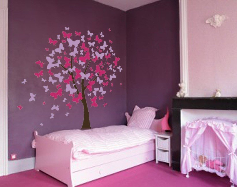 Best Butterfly Tree Nursery Wall Decal 1140 Innovativestencils With Pictures