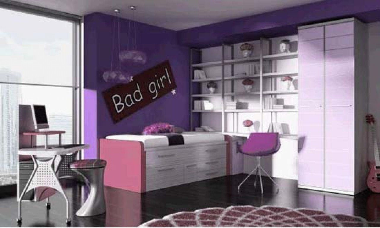 Best Cool Purple Rooms Cool Purple Girl Bedroom Ideas Cool With Pictures