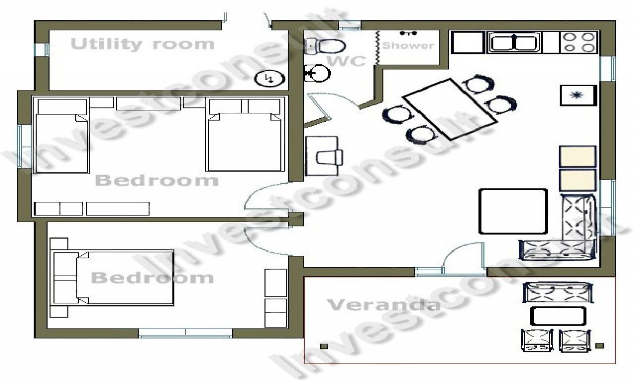 Best Small Two Bedroom House Floor Plans Small Two Bedroom With Pictures