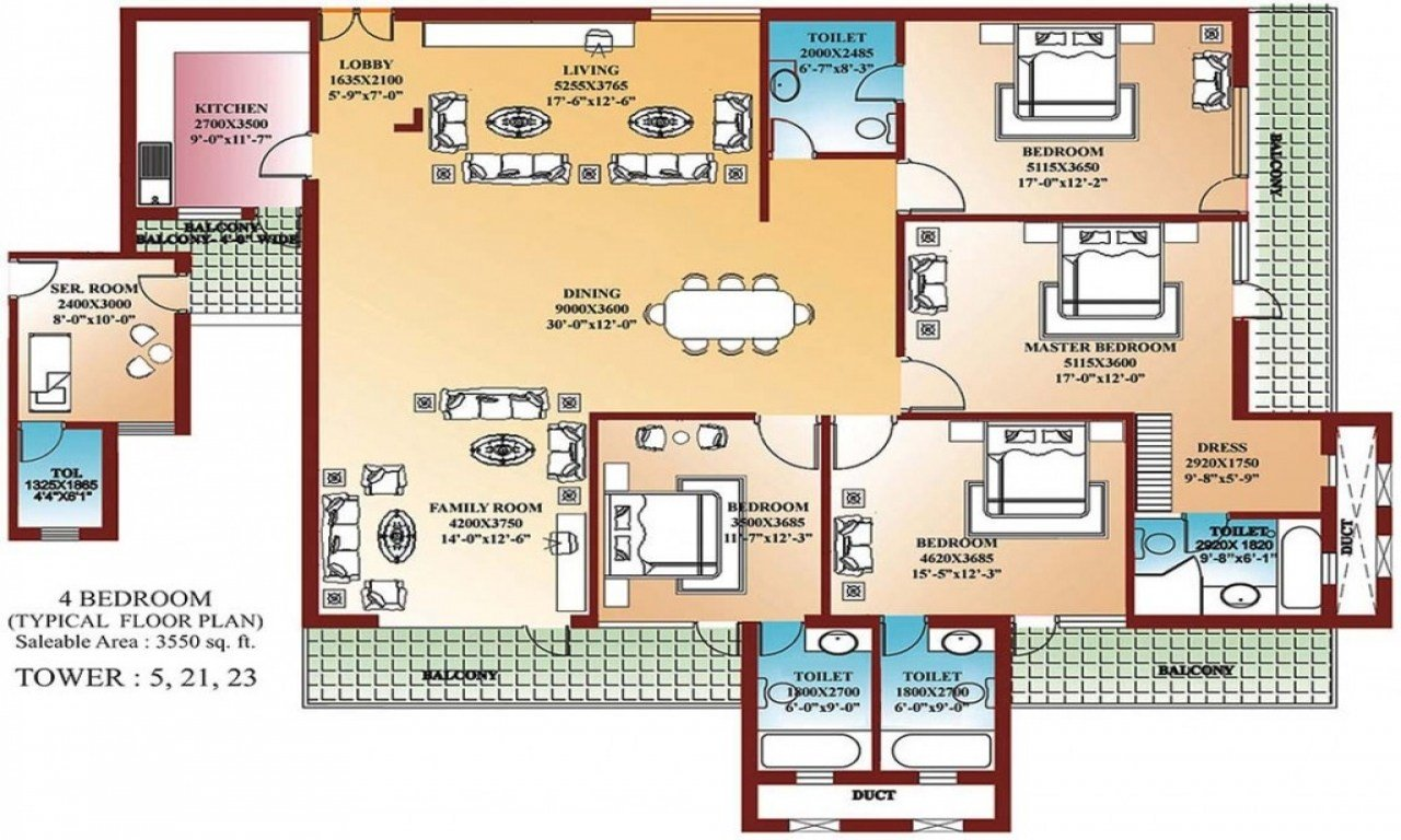 Best Unique 4 Bedroom Home Blueprints Small 4 Bedroom House With Pictures