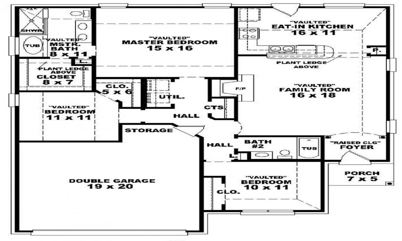 Best 3 Bedroom 2 Bath 1 Story House Plans Floor Plans For 3 With Pictures