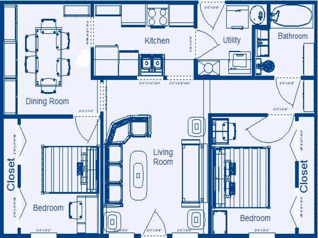 Best 2 Bedroom House Floor Plans With Dimensions 2 Bedroom With Pictures