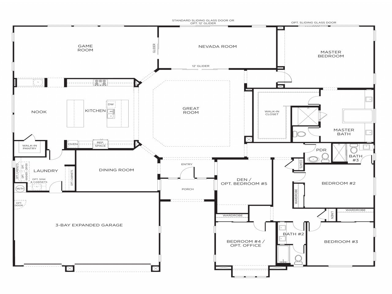 Best Single Story 5 Bedroom House Floor Plans Our Two Bedroom With Pictures