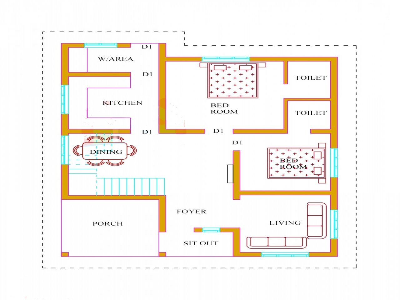 Best Kerala House Plans 2 Bedroom House Plans Kerala In Ground House Plans Mexzhouse Com With Pictures