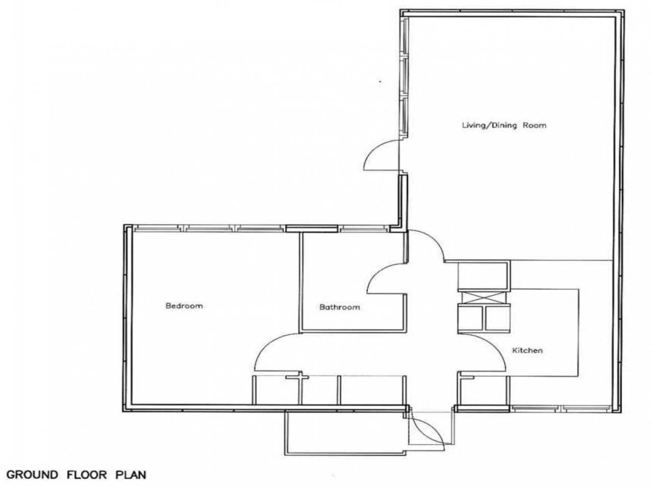Best Open Floor Plans 1 Bedroom 1 Bedroom Bungalow Floor Plans With Pictures