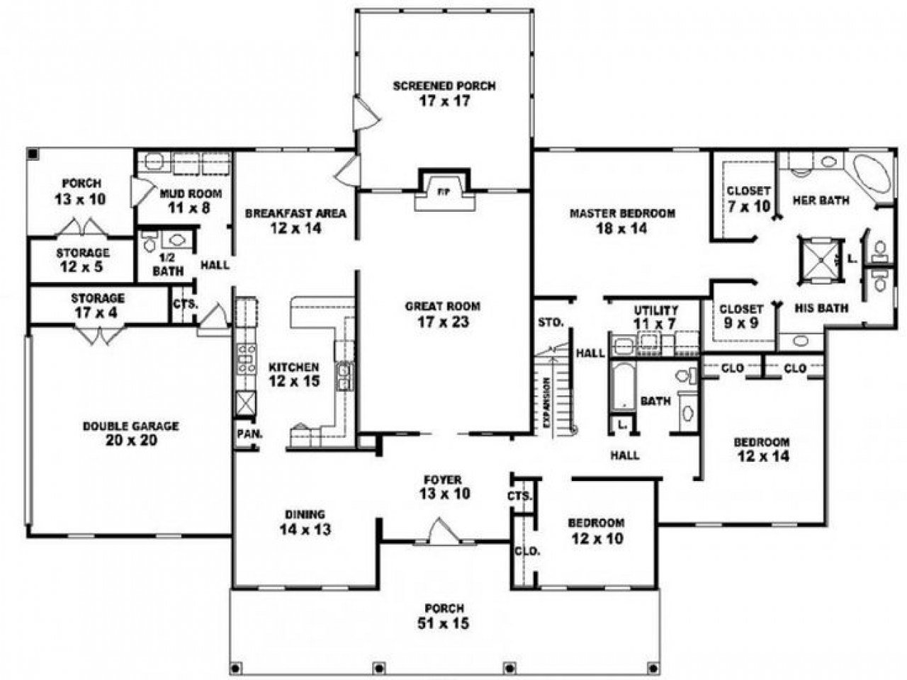 Best 5 Bedroom 3 Bath One Story House Plans Rustic Bedroom Bath With Pictures