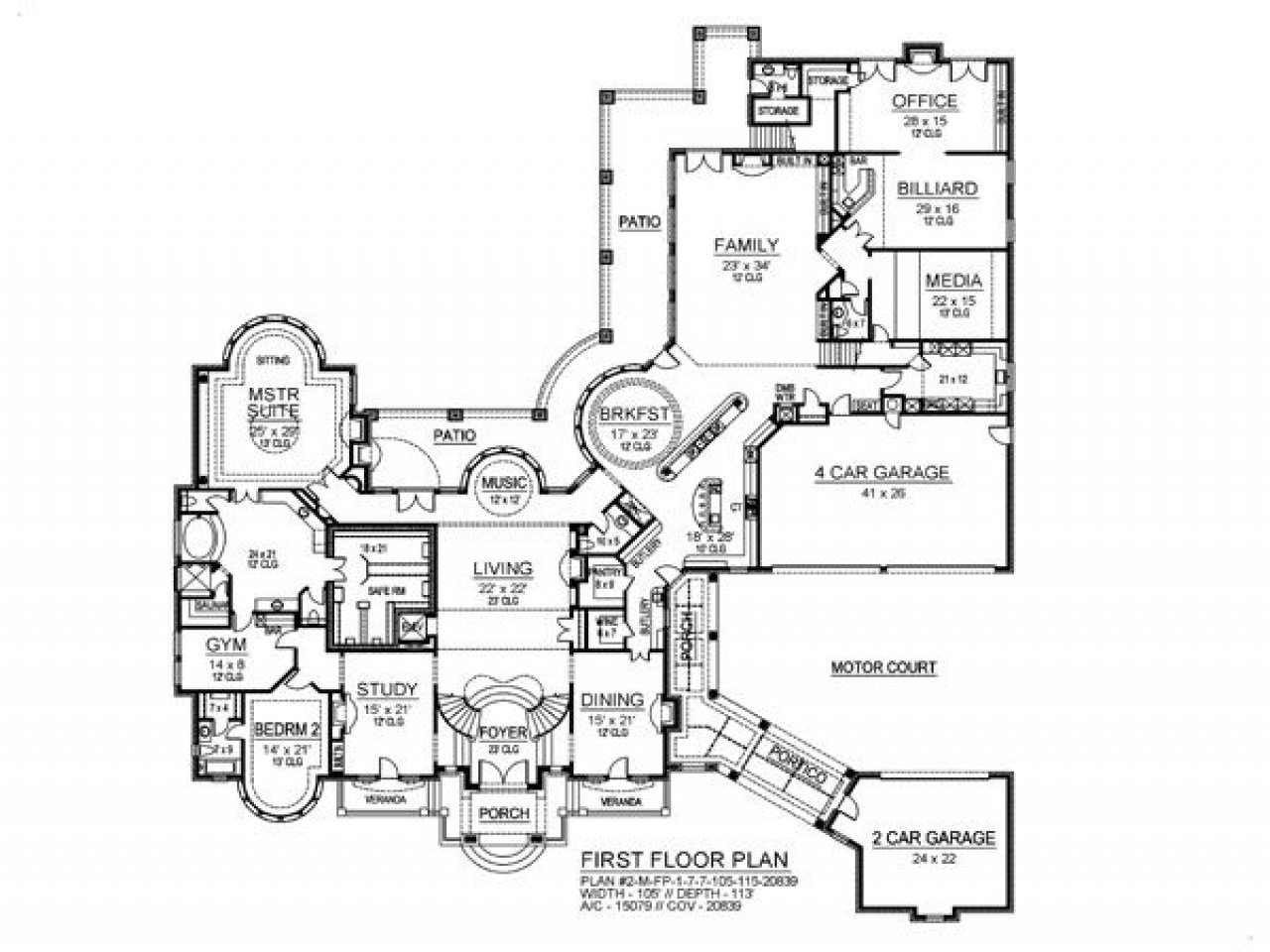 Best 7 Bedroom House Plans 8 Bedroom Ranch House Plans 7 With Pictures