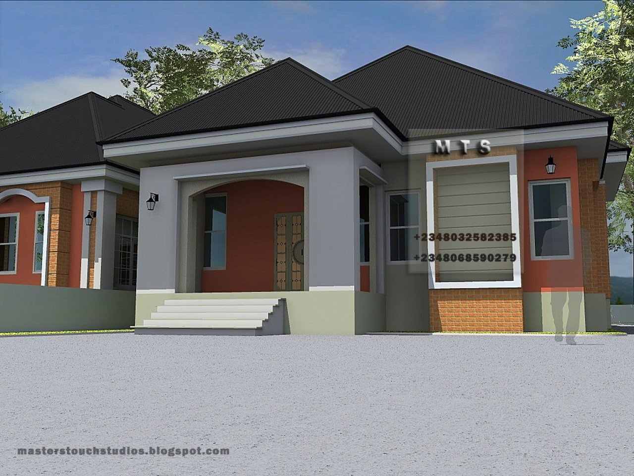 Best 3 Bedroom Bungalow Designs Modern 3 Bedroom House Plans 3 Bedroom Bungalow Mexzhouse Com With Pictures