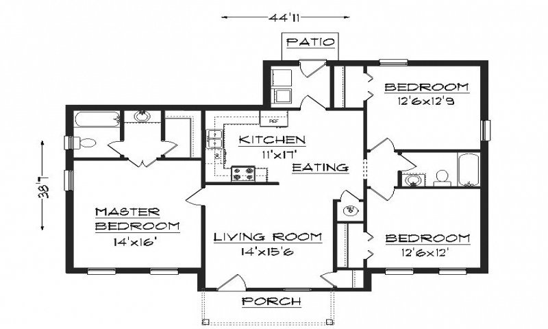 Best Simple House Plans 2 Bedroom House Plans Building Plans With Pictures