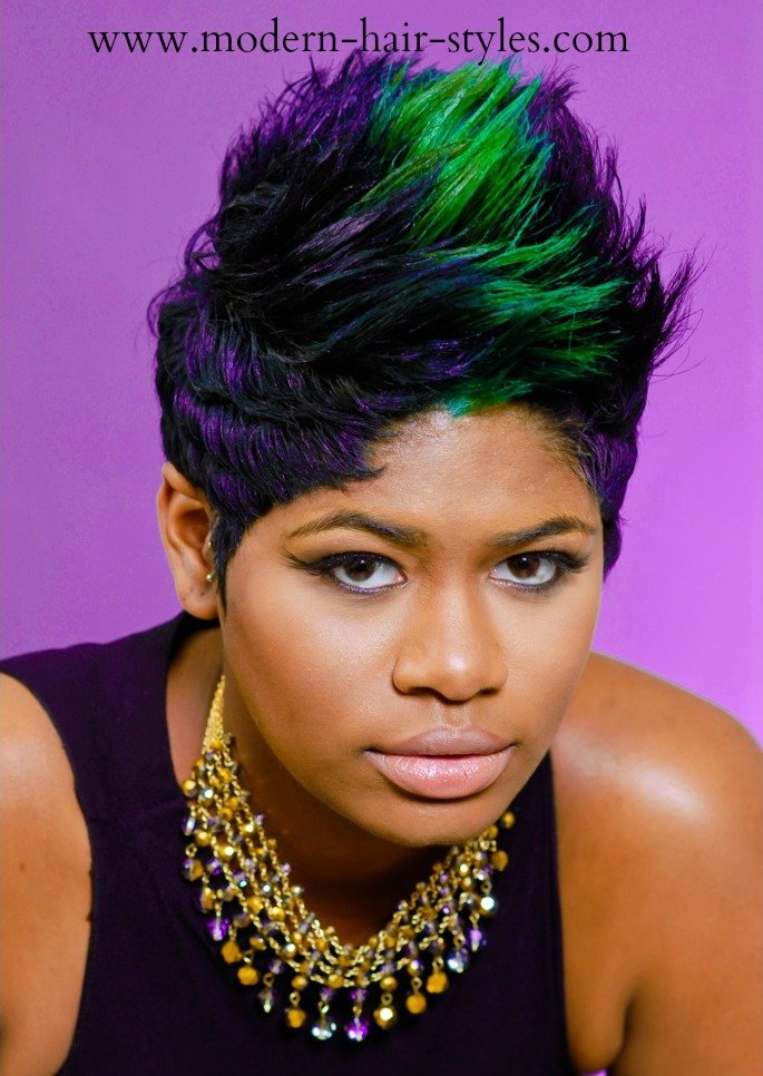 Free Short Hairstyles For Black Women Self Styling Options Wallpaper