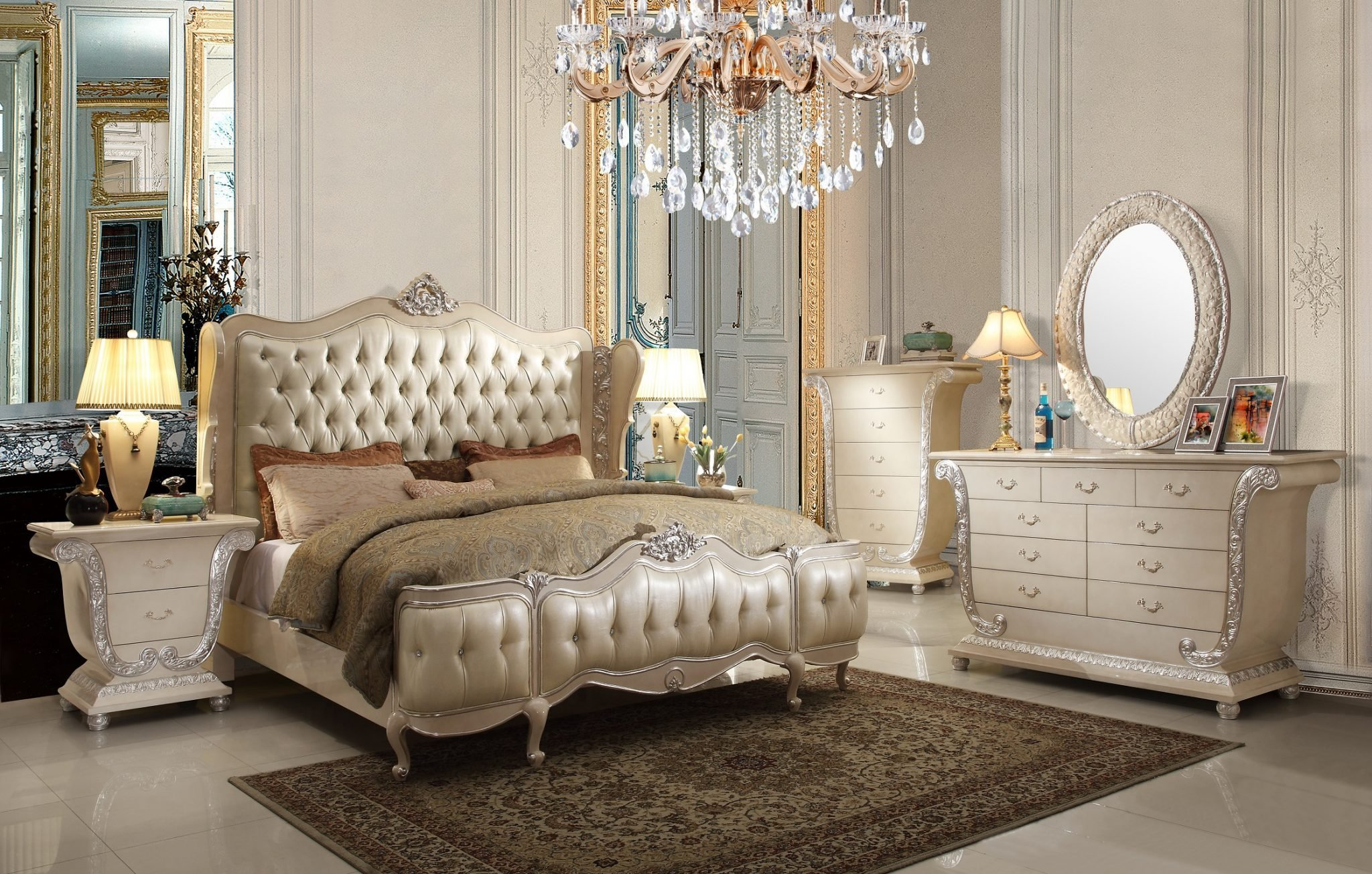 Best Hd 13002 H*M*Y Design 5Pc Royal Crown Bedroom Set With Pictures