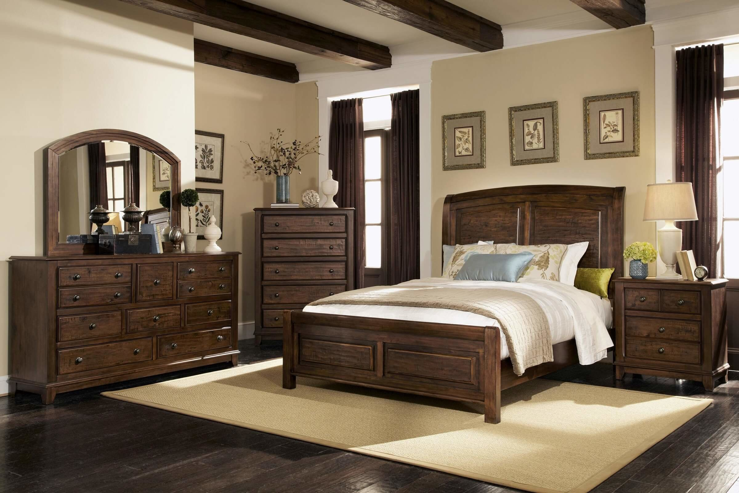 Best Coaster Furniture 4 Pc Laughton Panel Distress Bedroom Set With Pictures