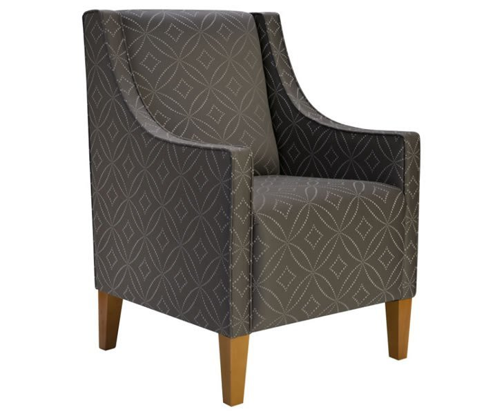 Best Allison Fabric Upholstered Bedroom Chair With Pictures