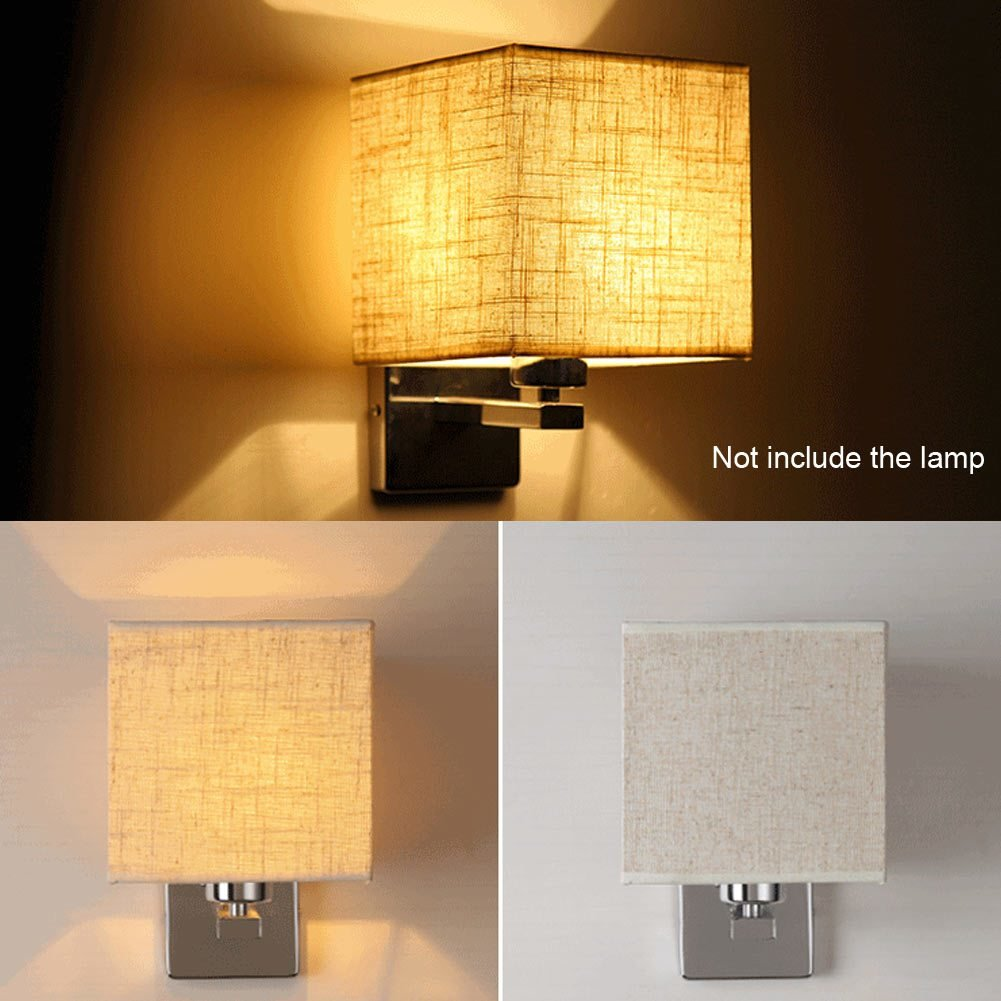 Best Led Cloth Wall Lamp Sconce Light For Hotel Reading Bedroom Bedside Lighting Ebay With Pictures