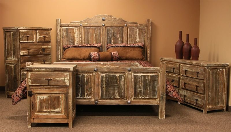Best Von Furniture Minimized White Wash Rustic Bedroom Set With Pictures