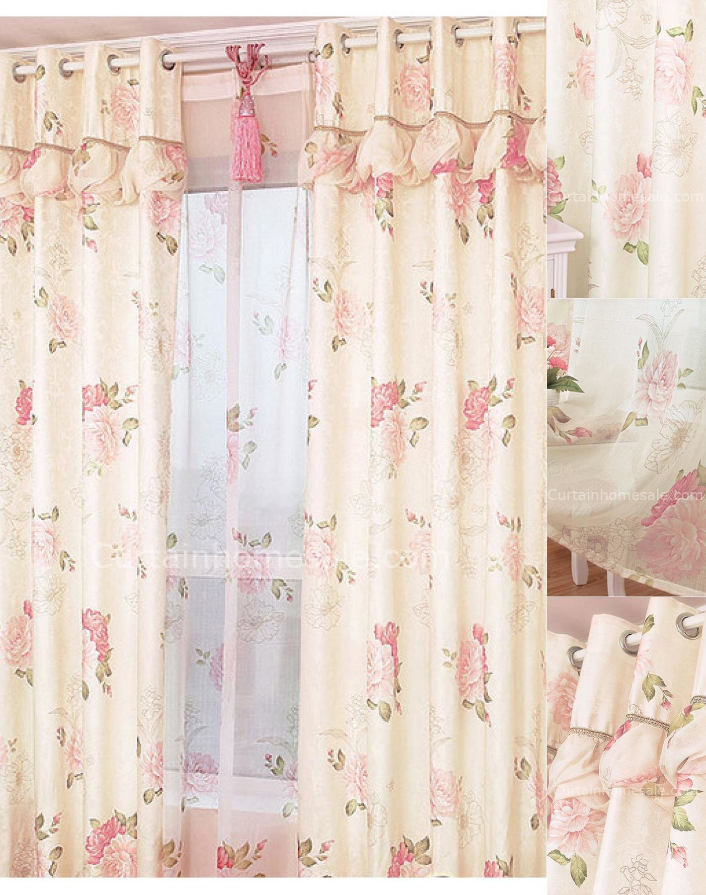 Best Country Floral And Leaf Printing Modern Patterned Curtains With Pictures