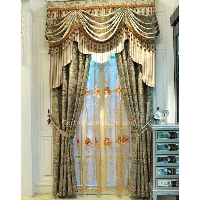 Best Vintage Lace Curtains In Combined Green Color For Fancy With Pictures