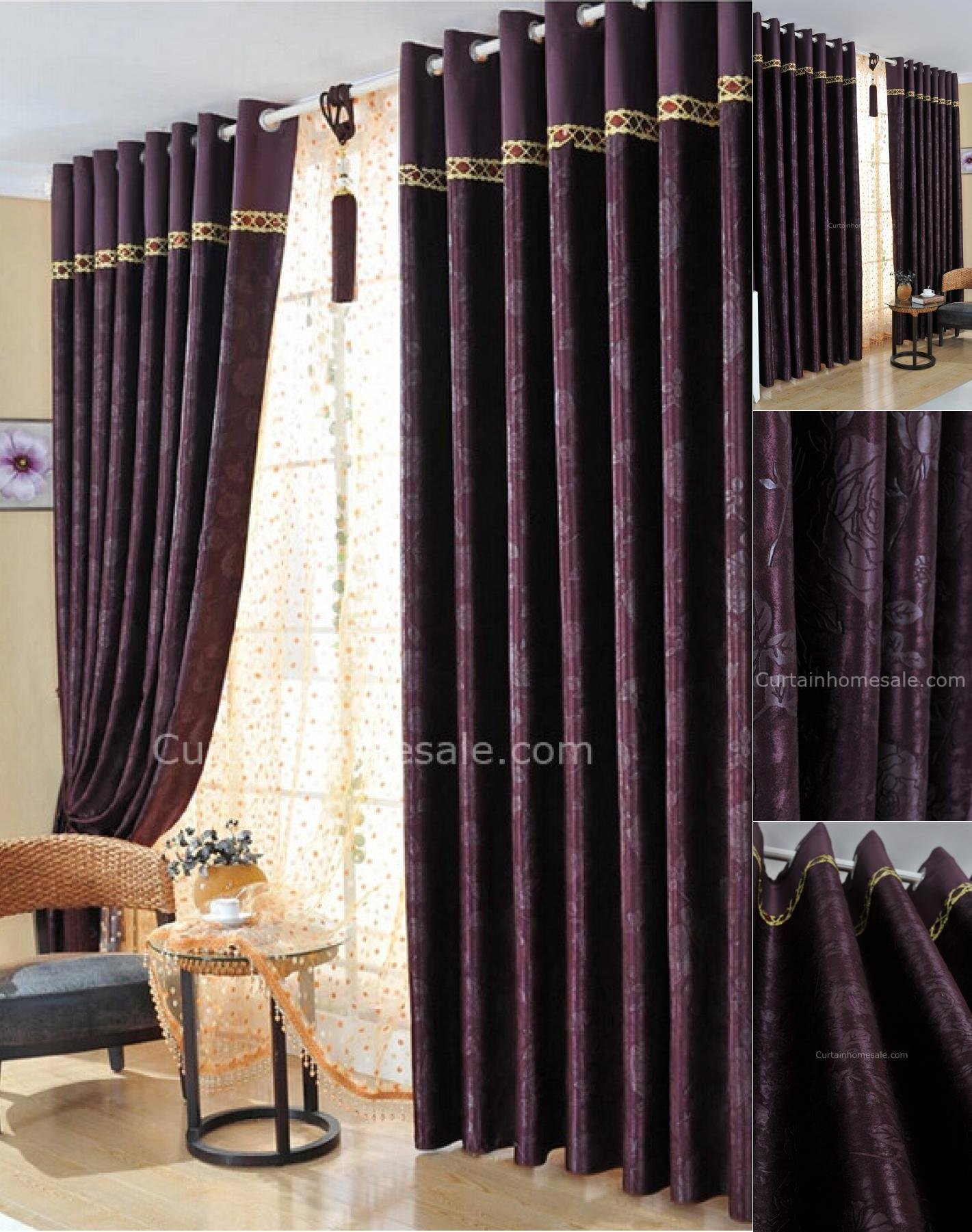Best Professional Dark Purple Bedroom Curtains Also Suitable With Pictures
