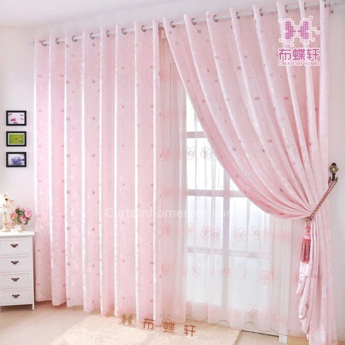 Best Prevailing Jacquard Soft Pink Curtains For Girls Bedroom With Pictures
