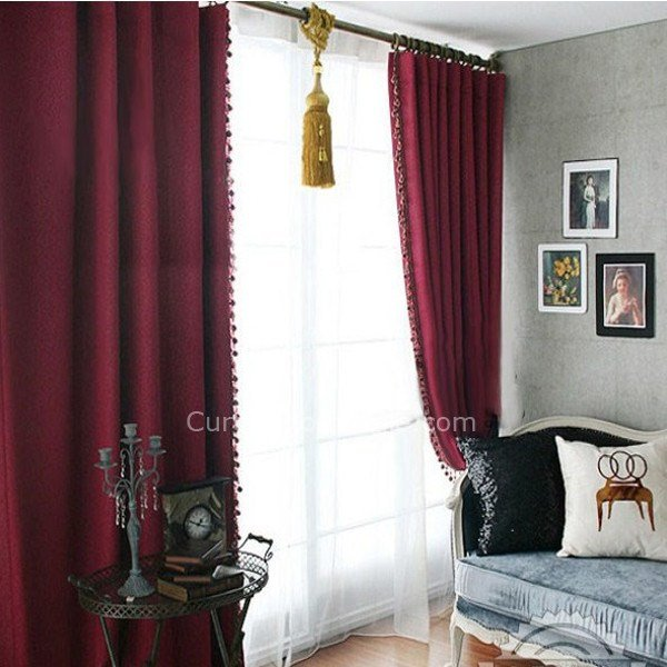 Best Buy Made To Measure Curtains For Blackout In Burgundy Color With Pictures