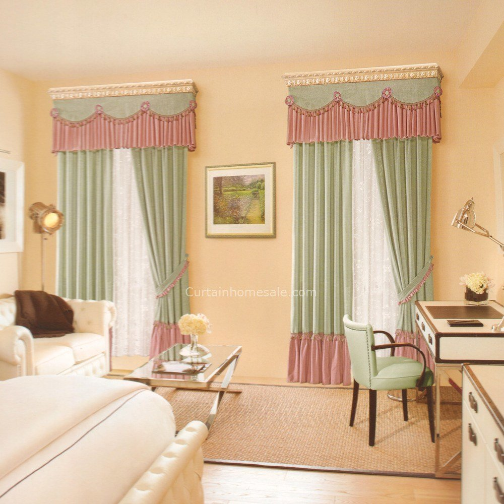 Best Pastoral Fresh Green Linen Clearance Curtains For Bedroom With Pictures