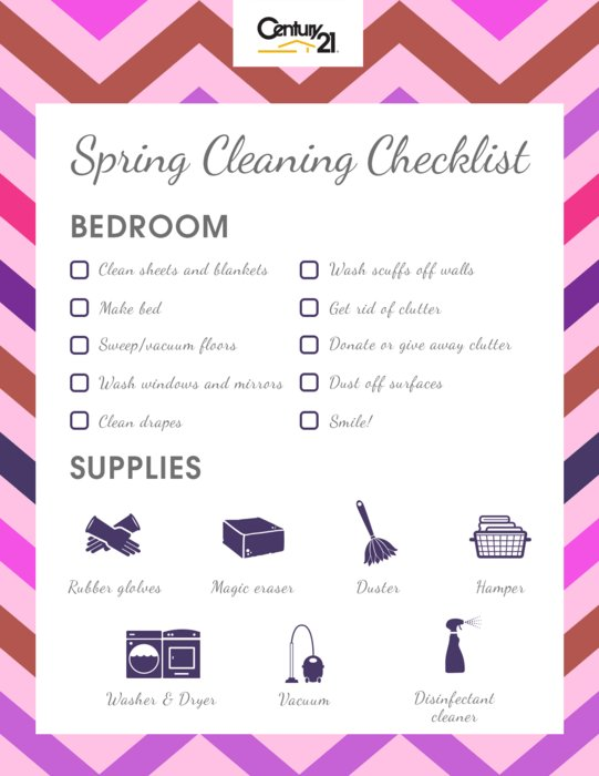 Best Spring Cleaning Checklist Bedroom – Century 21® With Pictures