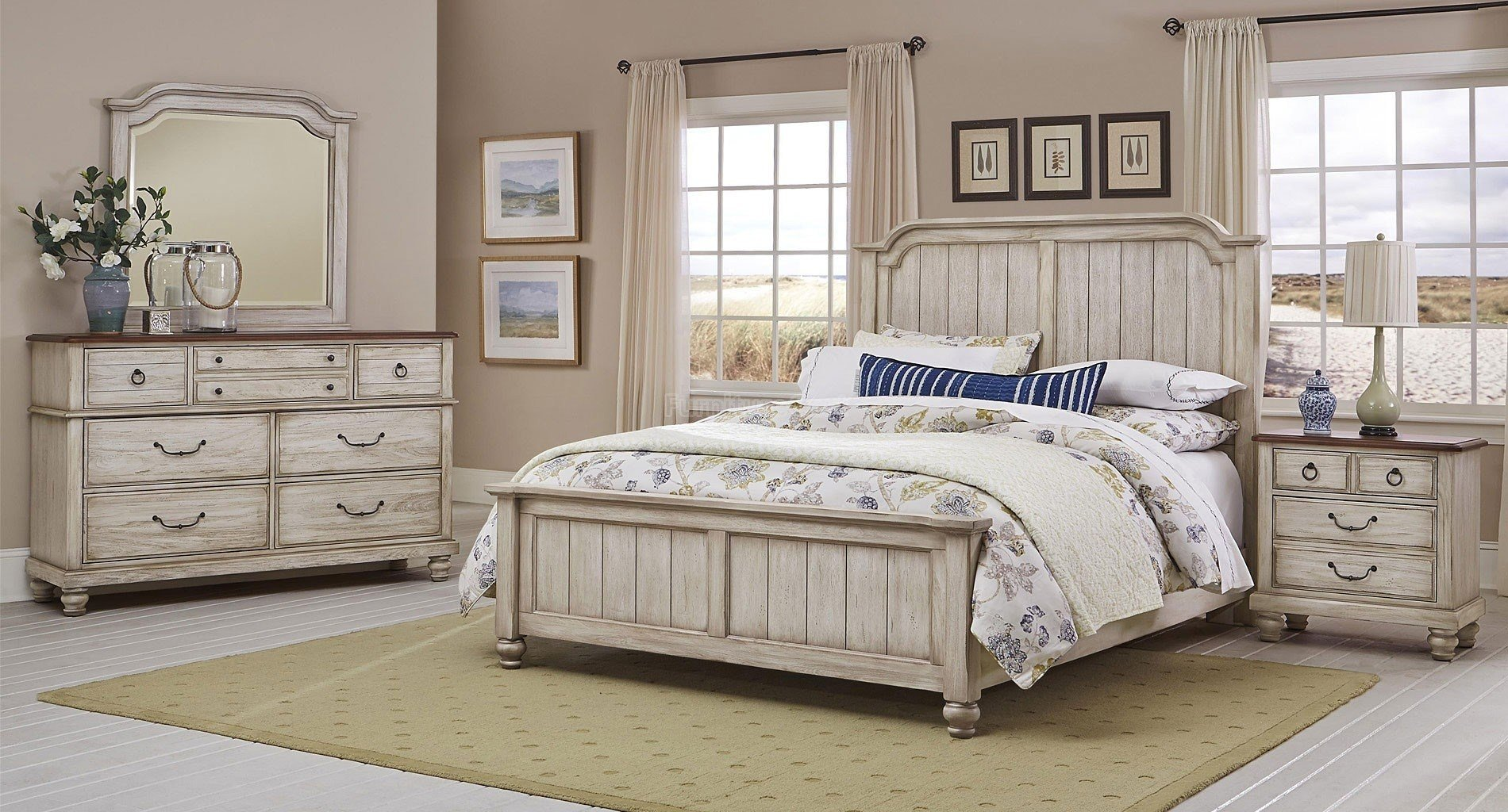 Best Distressed Cream Bedroom Furniture Cileather Home Design With Pictures