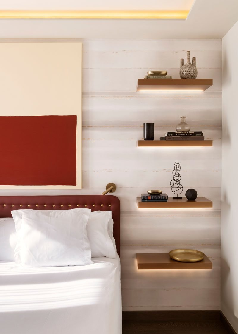 Best Bedroom Design Idea Replace A Bedside Table And Lamp With Pictures