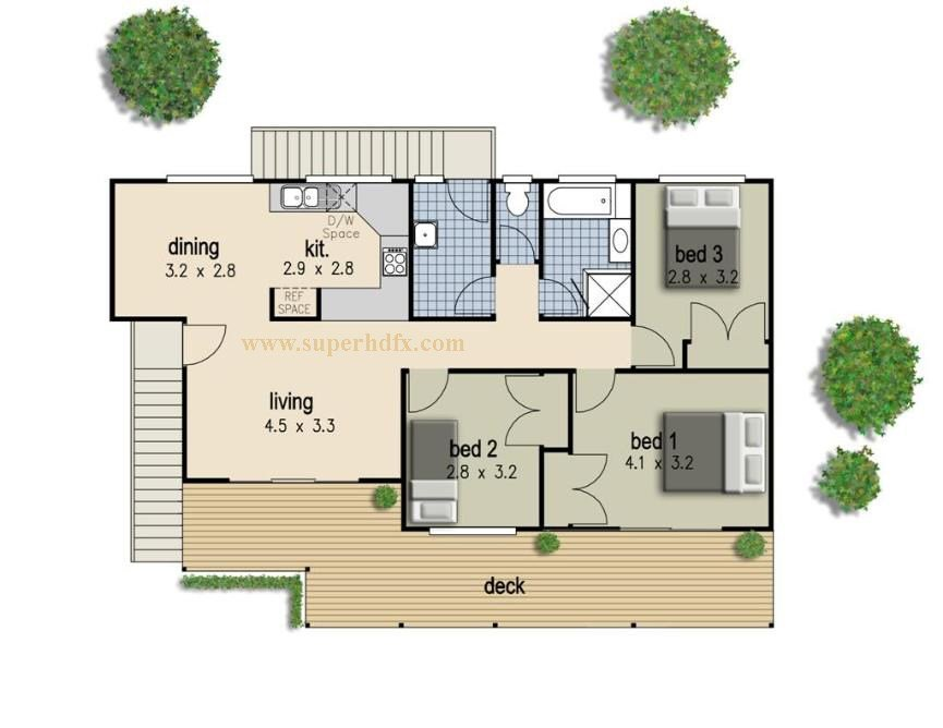 Best Simple 3 Bedroom House Plan Superhdfx With Pictures