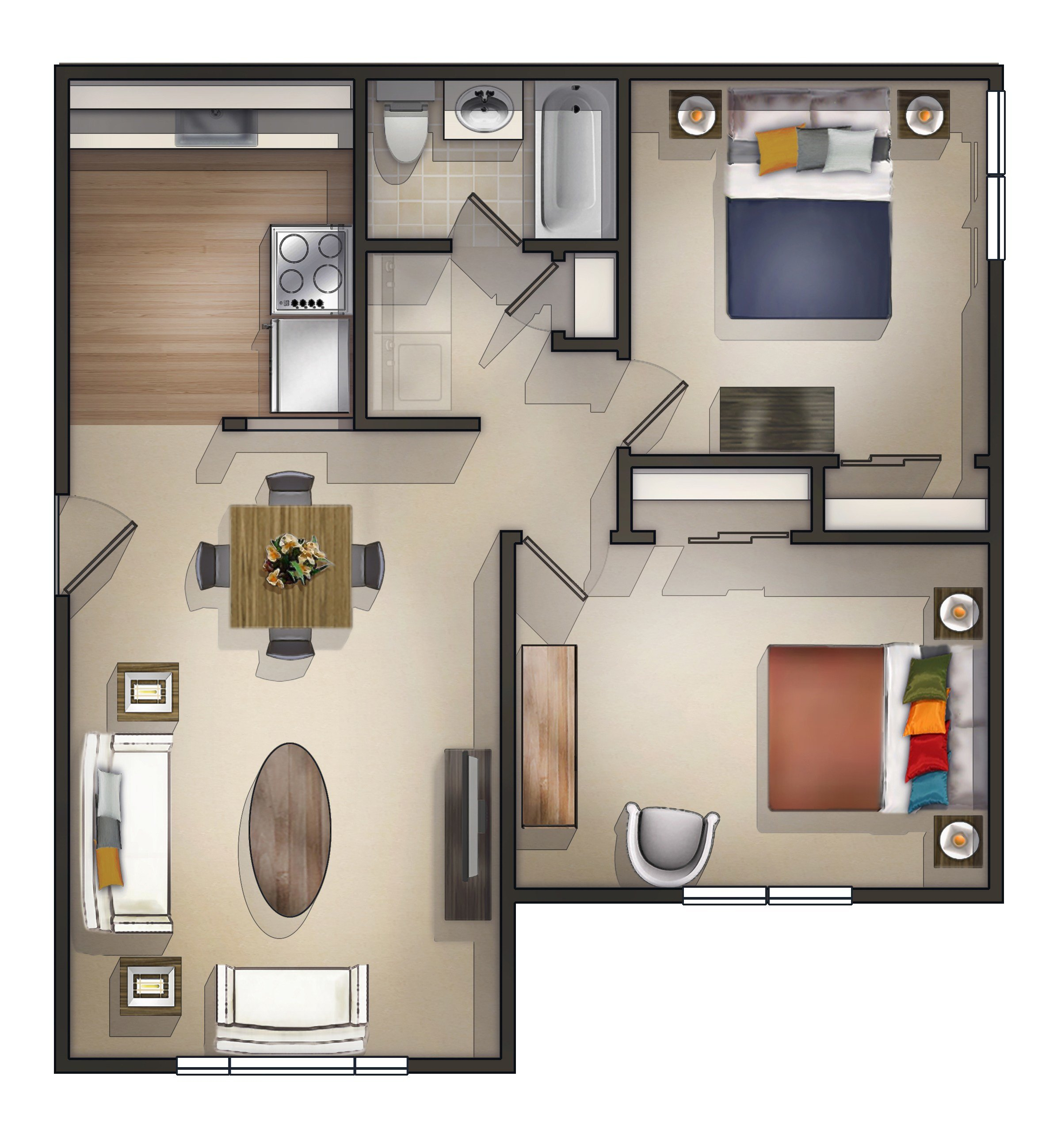 Best 2 Bedroom Apartment In Sanford Me At Sanford Manor Apartments With Pictures