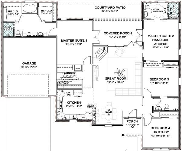 Best House Plans With 2 Master Bedrooms Smalltowndjs Com With Pictures