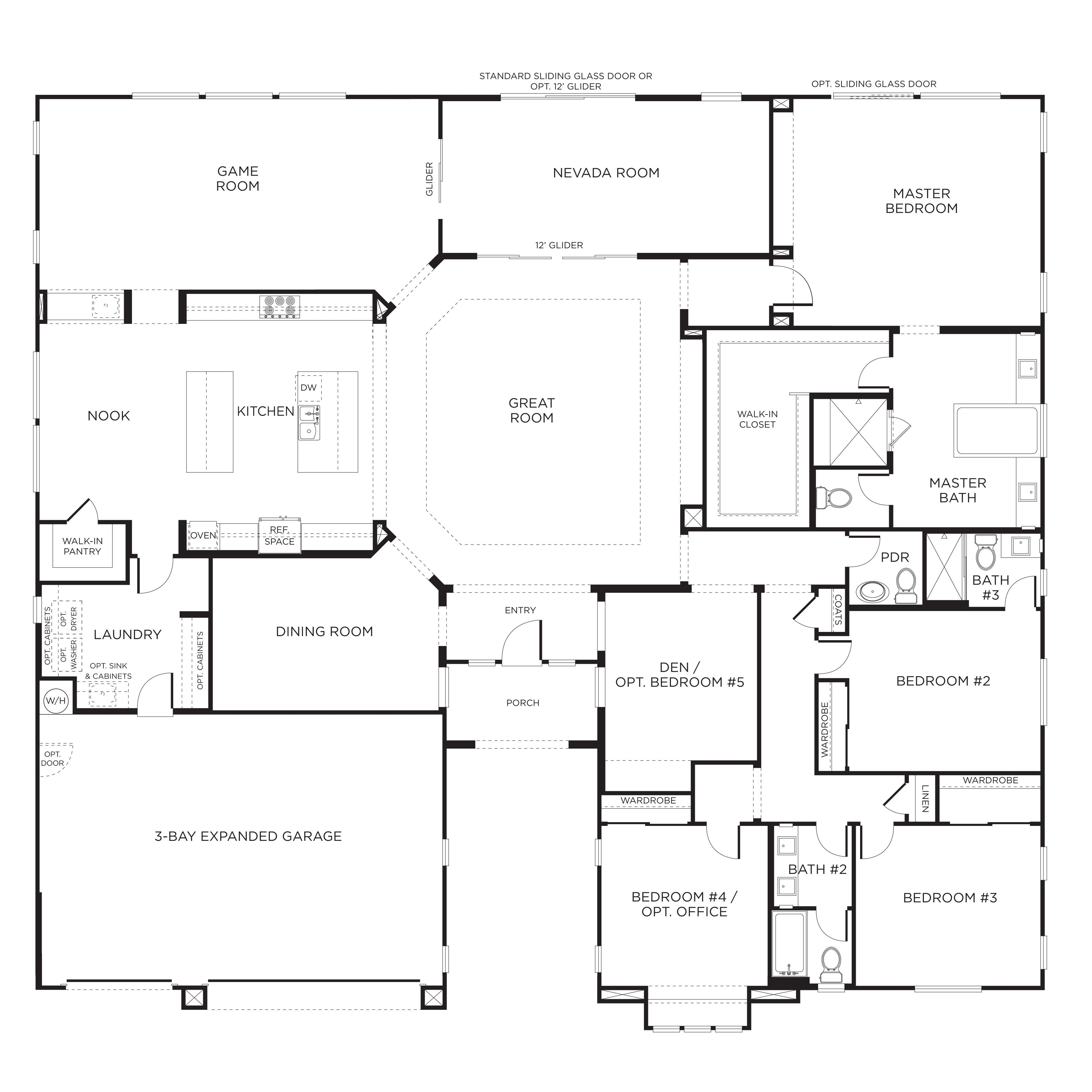 Best Exceptional Single Story Home Plans 7 Single Story 5 With Pictures