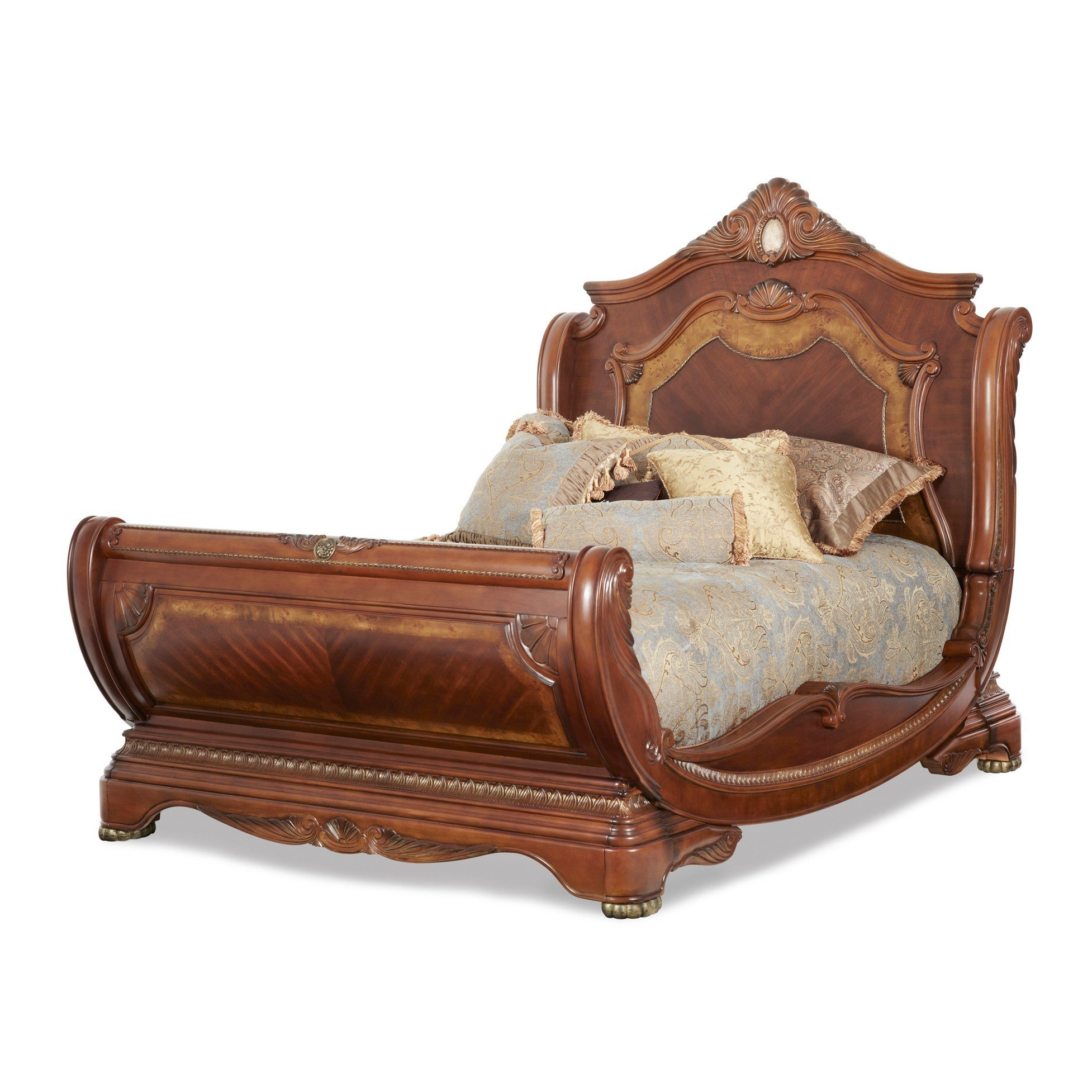 Best Aico Michael Amini 3Pc Cortina Queen Size Sleigh Bedroom With Pictures