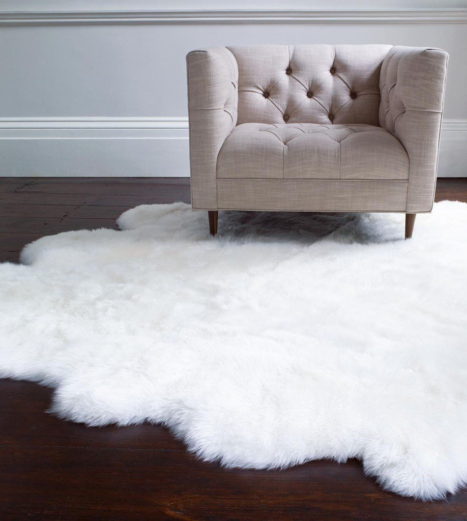 Best Sheepskin Area Rug Quarto In Natural By Ugg Australia With Pictures
