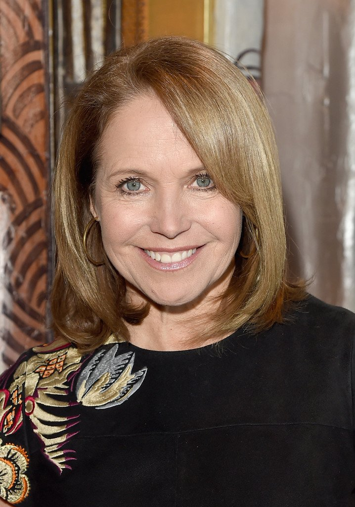 Free Katie Couric Mid Length Bob Shoulder Length Hairstyles Wallpaper