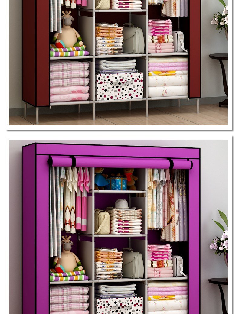 Best New Portable Bedroom Furniture Clothes Wardrobe Closet With Pictures