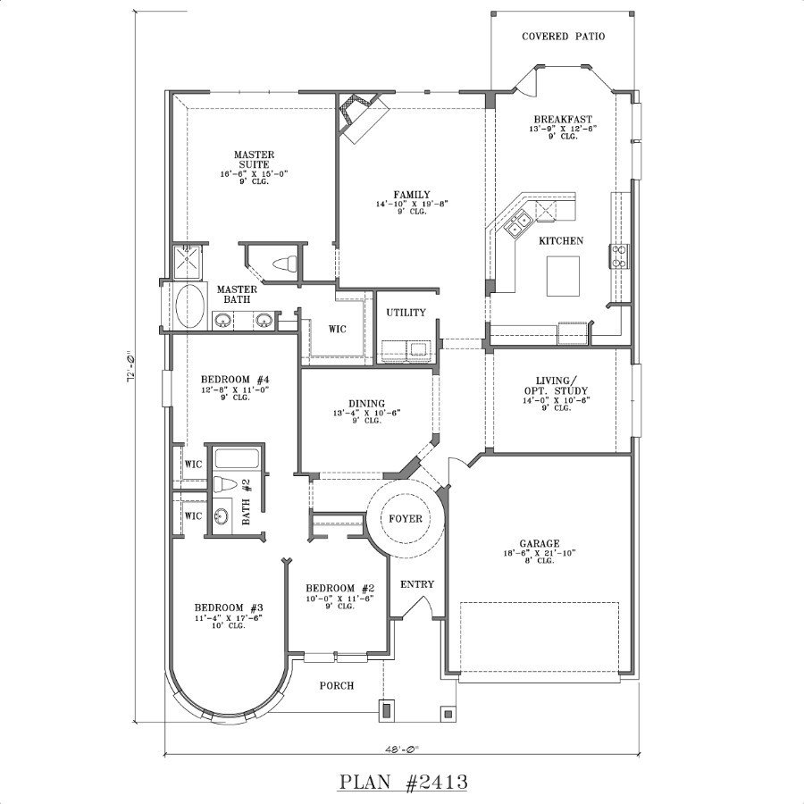 Best 4 Bedroom House Plans One Story Joy Studio Design With Pictures