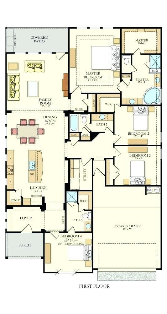 Best Rectangle House Plans Modern Rectangular Floor 3 Bedroom With Pictures