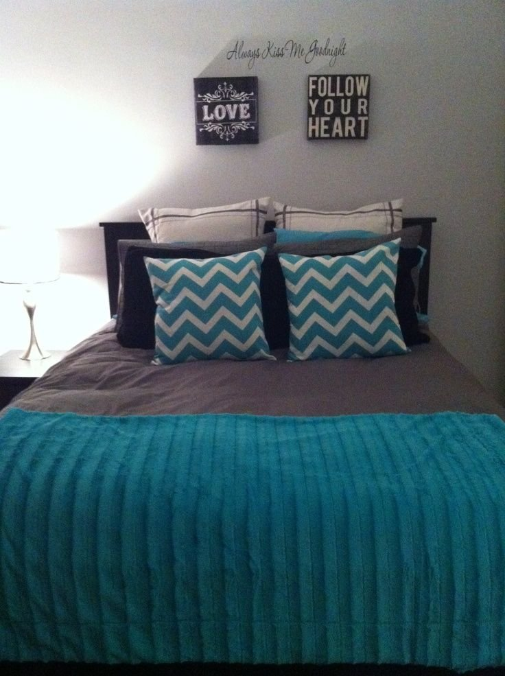 Best Grey And Teal Bedroom Amazing Dark Ideas Pertaining To 5 With Pictures