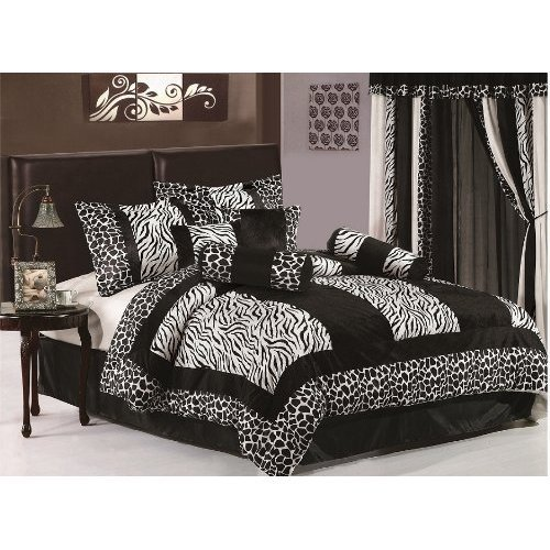 Best Chezmoi Collection 8 Pieces Black White Micro Fur Zebra With Pictures